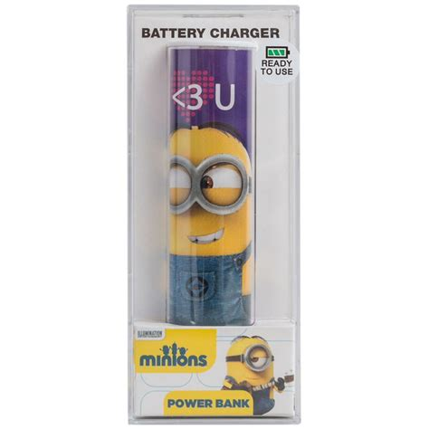 Power Bank Character Minions Bello 1 tribe minions portable power bank iwoot