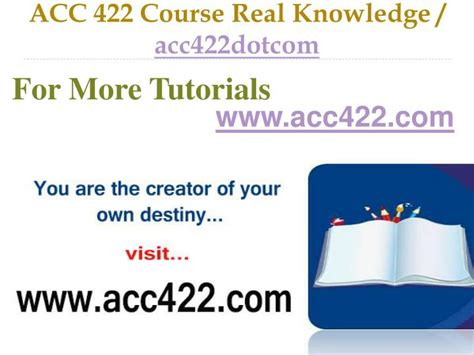 section 422 of the code ppt acc 422 course real tradition real success