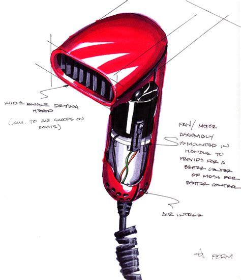 Hair Dryer Air Flow sketching by robert s donovan at coroflot