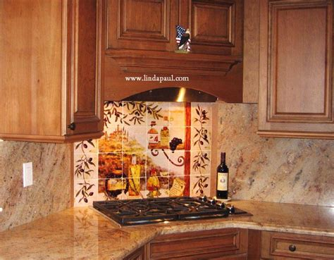 tuscan kitchen backsplash tuscan backsplash tile murals tuscany design kitchen tiles