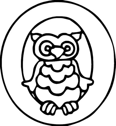 coloring page for letter o letter o alphabet coloring page