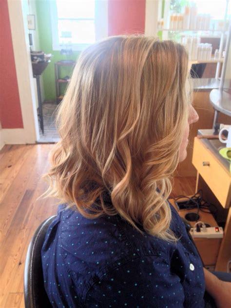 bob dark blonde dark blonde curled long bob hair by katie jo pinterest