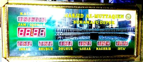 Rompi Sholat Kota Depok Jawa Barat kecamatan sukmajaya archives pusat jam digital masjid