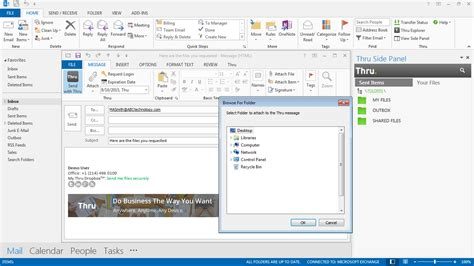 thru inc send large files microsoft outlook email file