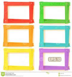 colored picture frames wooden picture frames color set royalty free stock photos