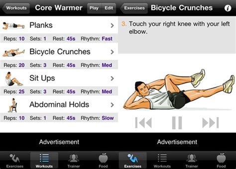 top 5 apps for working out your abs app comrade