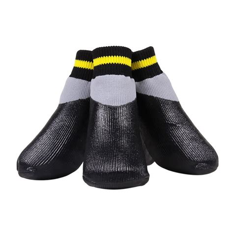sock boots for dogs 4x waterproof pet shoes boots socks anti slip rubber