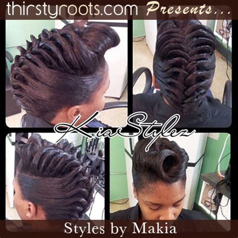 hair styles for black women french rolls fishtail braid hairstyles for black hair
