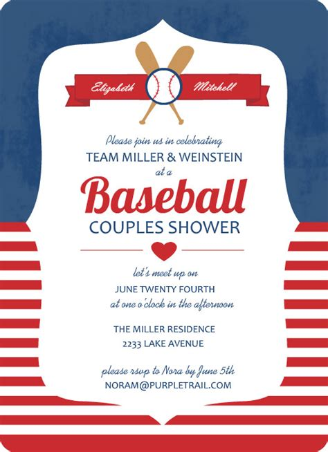 baseball birthday invitations template best template