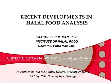 food analysis recent development in halal food analysis