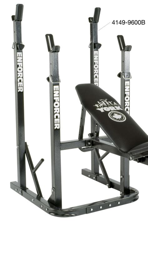 York Squat Rack by Enforcer 9600 B Squat Rack Only For Use With 9600 A Bench York Barbell