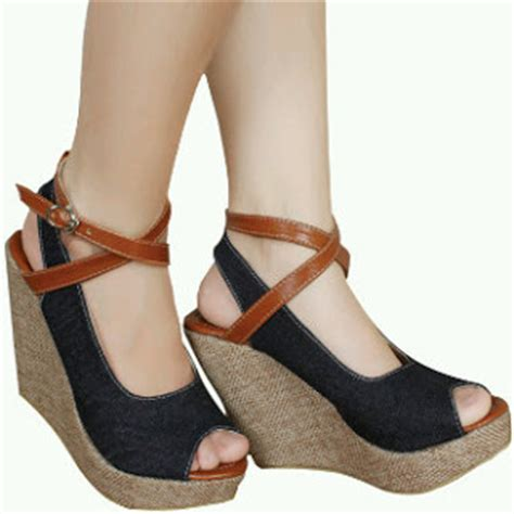 Sandal Sendal Wedges 2 Color the gallery for gt sandal wedges santai