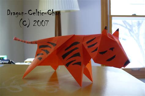 How To Make Origami Tiger - origami tiger by celtic chan on deviantart