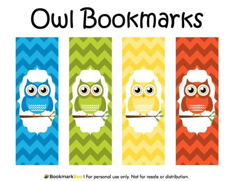 printable bookmarks pdf free printable owl bookmarks download the pdf template at