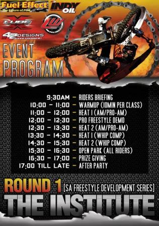 freestyle motocross schedule the institute fmx development series 1 freestyle
