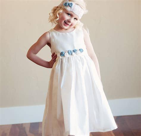 Grosir Dress Blue Silk Headband s shantung satin dress and headband by gilly gray