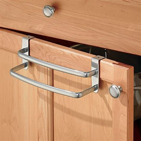 kitchen towel racks for cabinets mdesign over the cabinet kitchen dish towel holder with