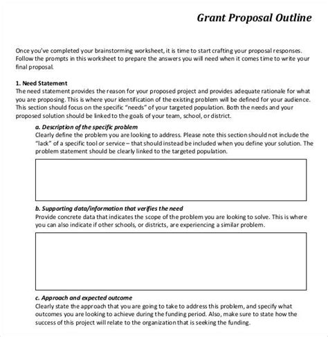 grant proposal guide chapter i section e 67 grant proposal guide chapter i section e exhibit
