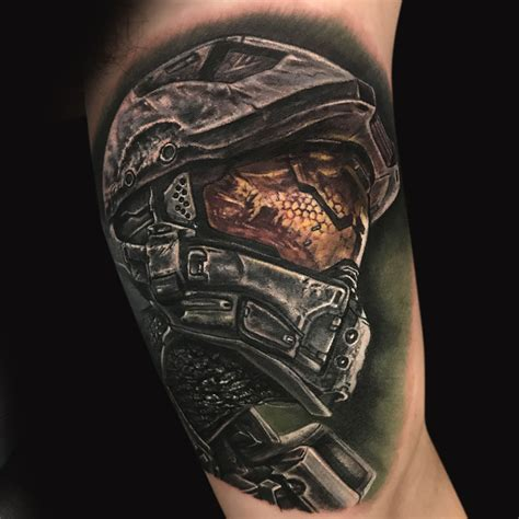 master chief tattoo master chief md studio in northridge