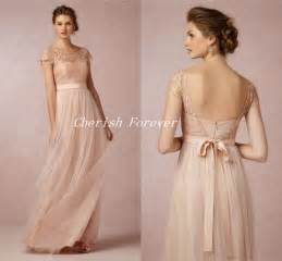 blush colored bridesmaid dresses aliexpress buy free shipping 2015 vintage lace