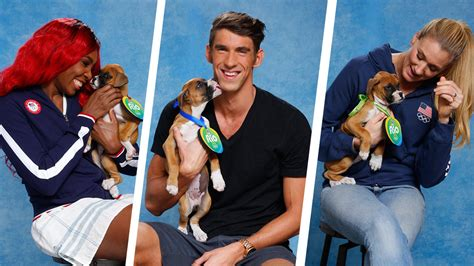 olympics play olympic athletes play with pups ahead of the 2016
