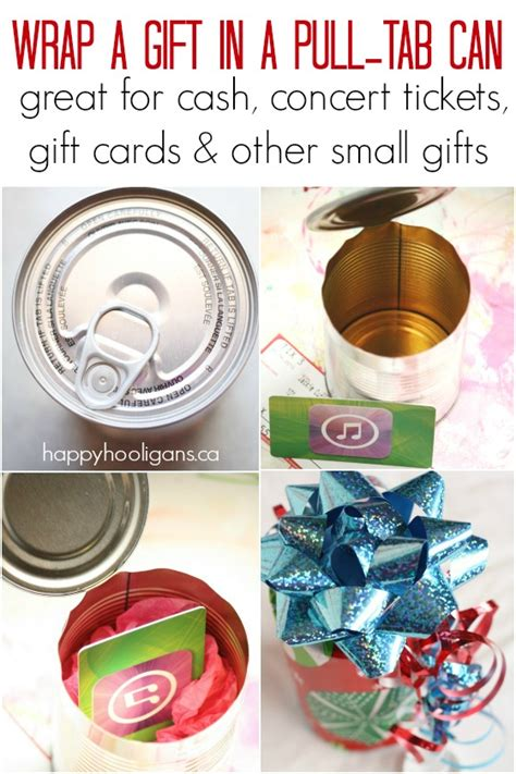 creative ways to wrap small gifts how to wrap a small gift in a pull tab can happy hooligans