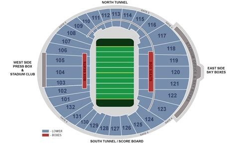 bowl seating chart with seat numbers