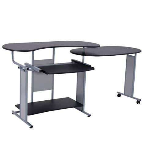 Expandable Computer Desk Lh Expandable L Shaped Computer Desk Pc Table Corner Workstation Home Office Ebay