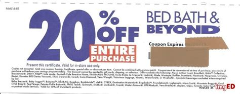 bed bath beyond 20 off entire purchase 20 off entire purchase bed bath and beyond coupon
