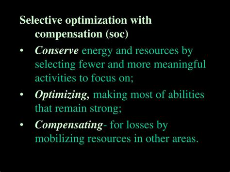 Selective Optimization With Compensation Essay by Ppt Chapter 18 Powerpoint Presentation Id 436599