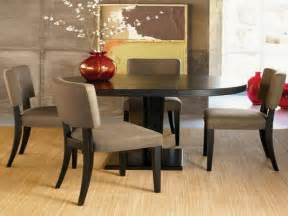 Dining room lovely modern wooden round dining table set with