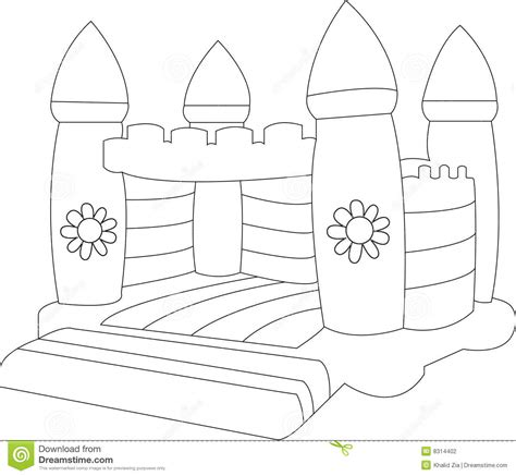 castle drawing template blank bouncy castle stock photography image 8314402