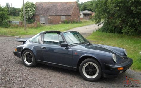 vintage porsche blue classic porsche 911 carrerra targa sport 1985 prussian blue