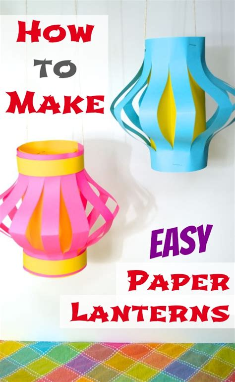 Make Paper Lanterns - how to make easy paper lanterns japan
