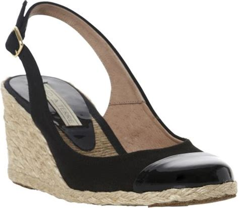 pied a terre chay slingback espadrille wedge sandals in