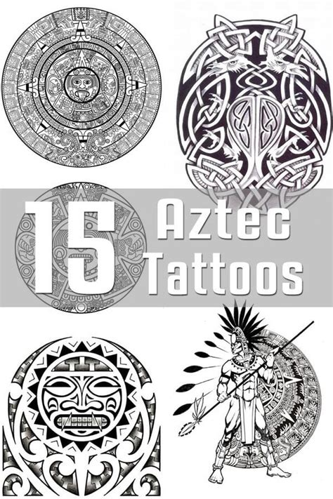 aztec tribal tattoos meanings best 25 aztec designs ideas on aztec