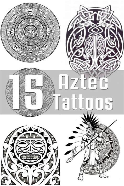 aztec tribal tattoos meanings best 25 aztec designs ideas on aztec