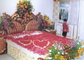 bridal bed room decoration for 1st suhagrat