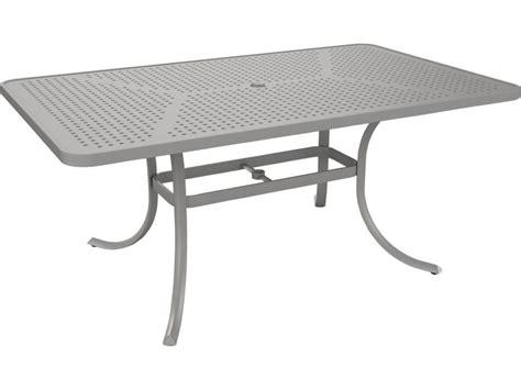 Tropitone Patio Table Tropitone Patterned Aluminum Boulevard 66 X 40 Rectangular Dining Umbrella Table 1866sbu
