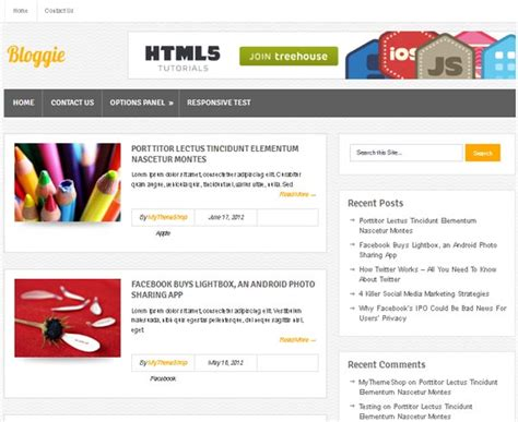 wordpress templates html5 free http webdesign14 com
