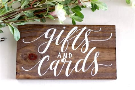 Wedding Gift Table Sign by Rustic Wedding Sign Gifts And Cards Sign Rustic Wedding