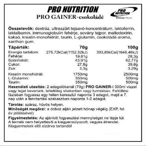 gainer o creatine pro nutrition pro gainer kreatin t 246 megn 246 velő 5000 g