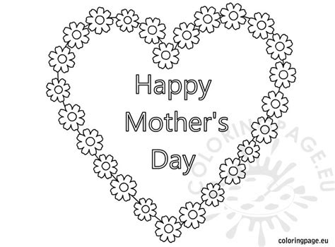 happy mothers day coloring pages happy s day and flowers coloring page