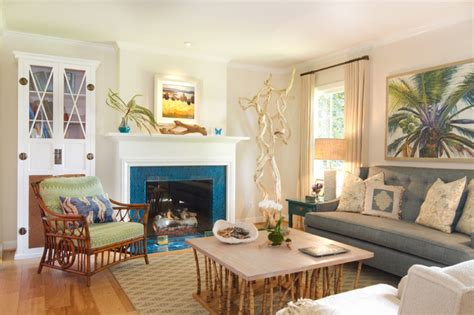 California cottage beach style living room los angeles by charmean neithart interiors llc