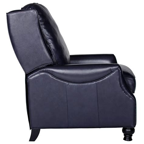 Navy Leather Recliner Chair Charles Recliner Chair Turned Baron Navy Leather