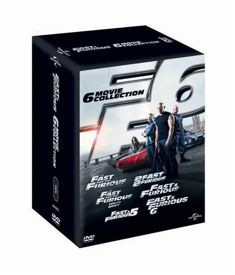 fast and furious dvd set fast furious 1 6 english dvd boxset buy online at
