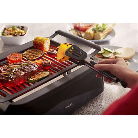 buy smoke  infrared heat technology indoor grill hd  philips shop