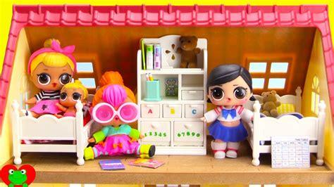 lol surprise dolls  bedroom bunk bed set youtube