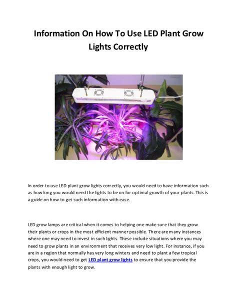 how to use grow lights led plant grow lights correctly