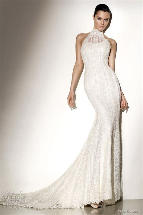 Halter Neck Wedding Dress by Pepe Botella 2012 Wedding Dresses Wedding Inspirasi